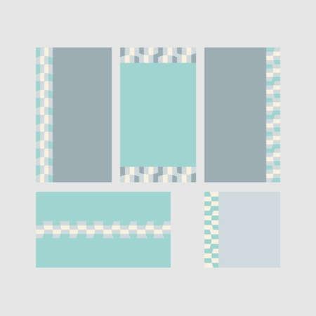 Modern decorative vector frames. Editable design templates for web, social media, promo, ads, banners etc. Banque d'images - 159167653