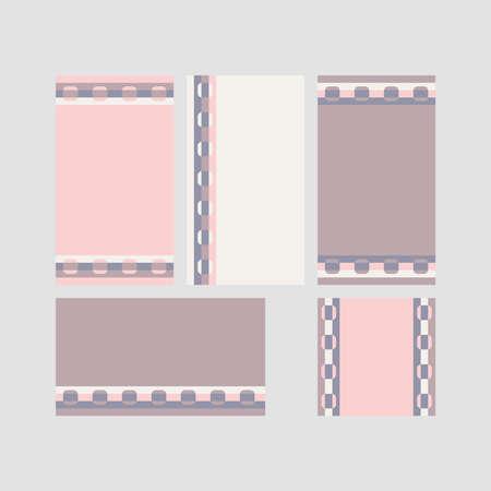 Modern decorative vector frames. Editable design templates for web, social media, promo, ads, banners etc. Banque d'images - 159167141