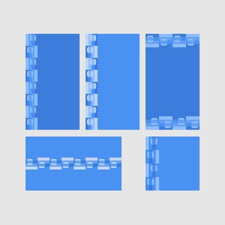 Modern decorative vector frames. Editable design templates for web, social media, promo, ads, banners etc. Banque d'images - 159167085