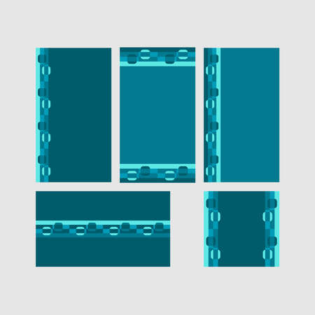 Modern decorative vector frames. Editable design templates for web, social media, promo, ads, banners etc. Banque d'images - 159167455