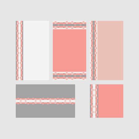 Modern decorative vector frames. Editable design templates for web, social media, promo, ads, banners etc. Banque d'images - 159167560