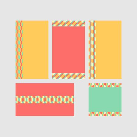 Modern decorative vector frames. Editable design templates for web, social media, promo, ads, banners etc. Banque d'images - 159167663