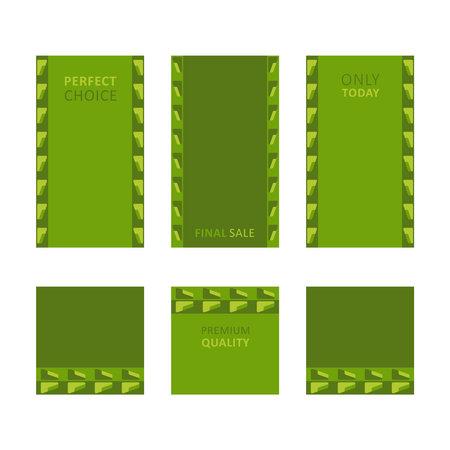 Modern decorative vector frames. Editable design templates for web, social media, promo, ads, banners etc.