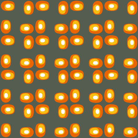 Simple seamless pattern for web, advertising, textiles, prints and any design projects. Abstract retro shapes will decorate any surface or thing and make it attractive. Illustration