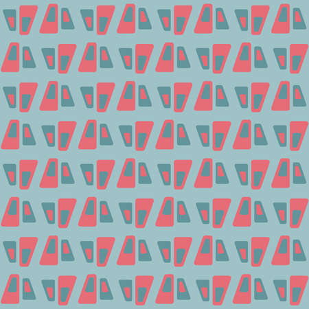 Simple seamless pattern for web, advertising, textiles, prints and any design projects. Abstract retro shapes will decorate any surface or thing and make it attractive. Standard-Bild - 161763305