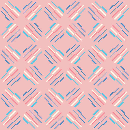 Decorative seamless pattern for web, advertising, textiles, prints or any design projects. Simple geometric shapes can make any surface or thing attractive. Banque d'images - 167002782