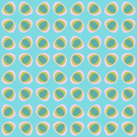 Simple retro seamless pattern for web, advertising, textiles, prints and any design projects. Rounded shapes will decorate any surface or thing and make it attractive. Stock Illustratie