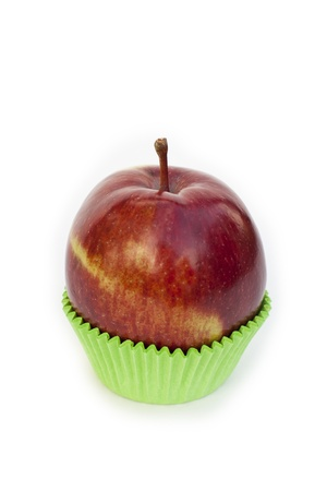 Apple in baking cup