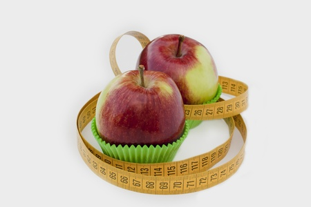 Two apples in backing cups