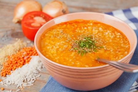 Turkish lentil soup - ezo gelin