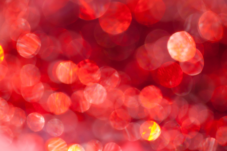 Abstract bokeh background in red