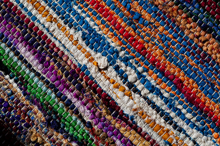Colorful woven mat to be used as background