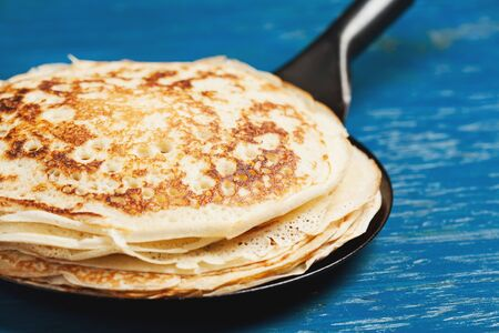 sweet and savoury: Staple of yeast pancakes, traditional for Russian pancake week