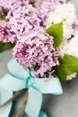 brunches: Bouquet of beautiful lilac brunches Stock Photo
