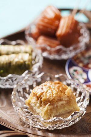 yufka: Walnut baklava - traditional oriental dessert