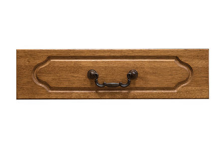 Furniture drawer box cover with a handle isolated on a white background. Banco de Imagens