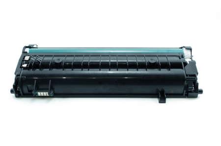 Laser printer cartridge isolated on white background.