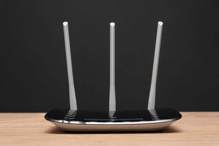 Wifi router on the table background. 写真素材