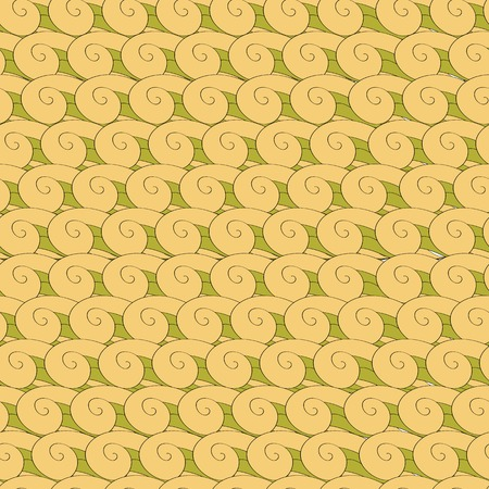 whorl: seamless pattern vortex whorl endless green yellow
