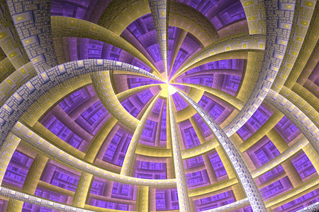 deterministic: Computer Generated Fractal Image Stock Photo