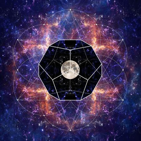 Photo of the Moon and Sacred Geometry by Sergey Nosov Reklamní fotografie