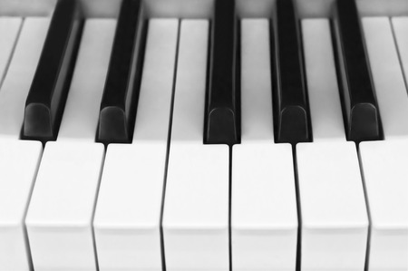octave: Piano keyboard of one octave in black and white color Stock Photo