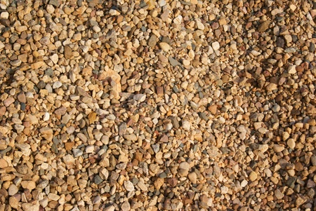 Textured background of beige and brown gravel chips  Stock Photo