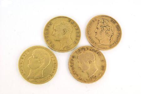 Gold European bullion coins of XIX century