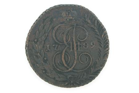 A copper Russian coin of 18 century (5 kopek)