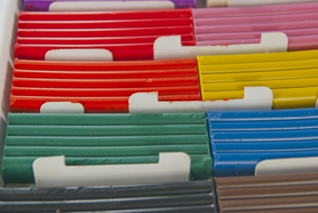 Plasticine of different colors for craft in a box Stock Photo - 17037973