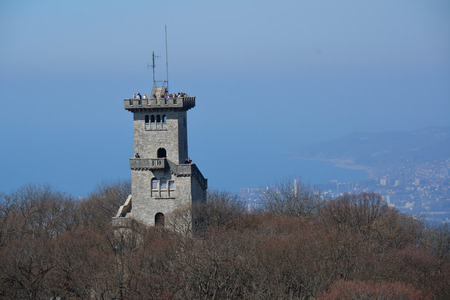 Ahun tower in Sochi in the Caucasus