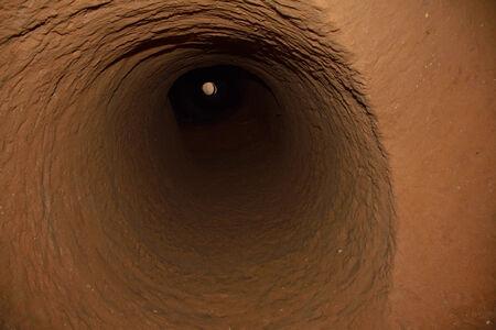 air hole: Air hole  deep  in a cave