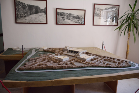 maquette: The miniature of the fortress and the temple in the museum of Erebuni, Armenia Editorial