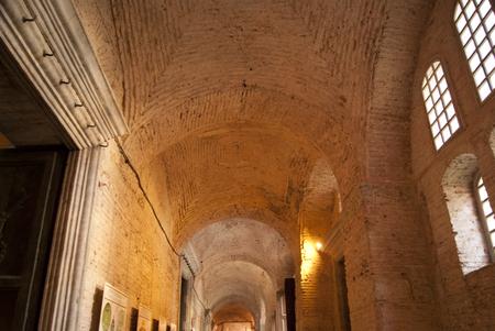 aya sofia: Detail of the upper corridor of Aya Sofia in Istanbul Editorial