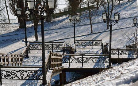 plafond: old stairs in Chernihiv, Ukraine, Val park