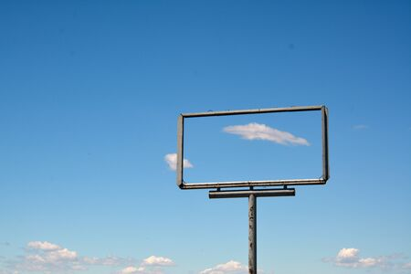 frame of a billboard empty for your advertising against blue sky Stock Photo