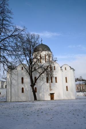 boris: Boris and gleb cathedral in winter. Chernihiv, Ukraine, Val park