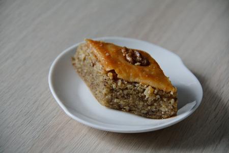 baklawa: sweet dessert baklava on a plate