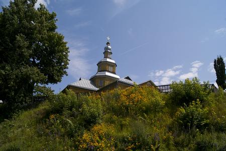 Wooden Nikolskaya church in Novgorod-Siverskiy, Ukraine