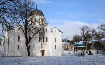 boris: general view of Boris and Gleb cathedral, in Chernihiv, Ukraine (XII century) Stock Photo