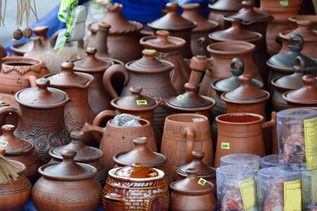 earthenware: Clayware on the market for sale