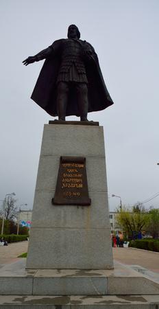 vladimir: SERPUKHOV, 03.05.2015 -  Vladimir the brave monument in Serpukhov, Russia Editorial