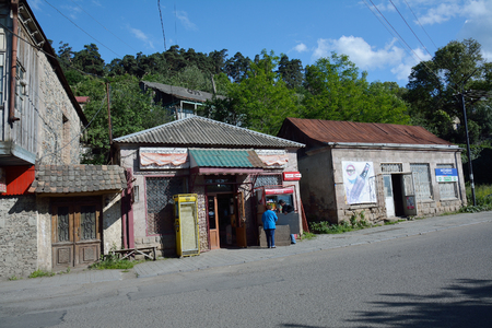small shop in Dilijan, Armenia, with shoppers