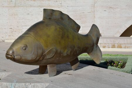 Fish statue in Yerevan, Carpe by Francois-Xavier Lalanne