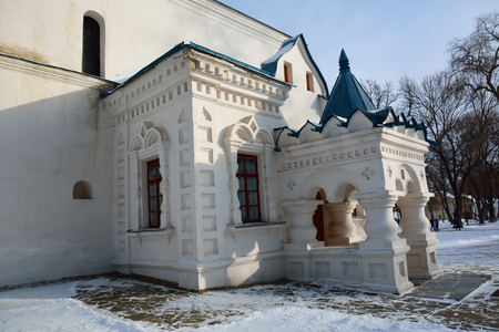collegium: Porch of Collegium, Chernigiv, Ukraine, architectural detail Stock Photo