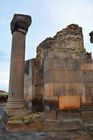 sone: Pillar and sone stones in Zvartnots ruins, Armenia