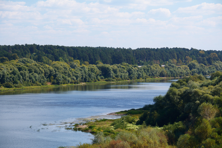 oka: river Oka with the trees on the banks in good weather