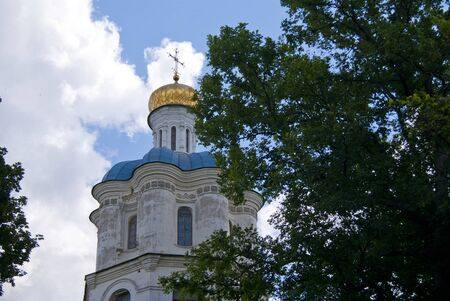 collegium: Detail of the bell otower of Collegium, in Chernihiv, Ukraine