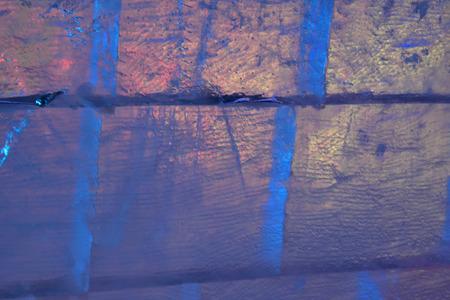 ice blocks: ice blocks with bright blue and yellow light