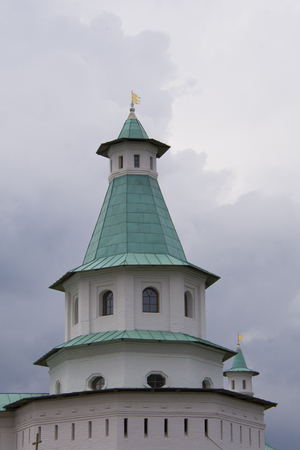 tower in New Jerusalem cathedral, at the sky